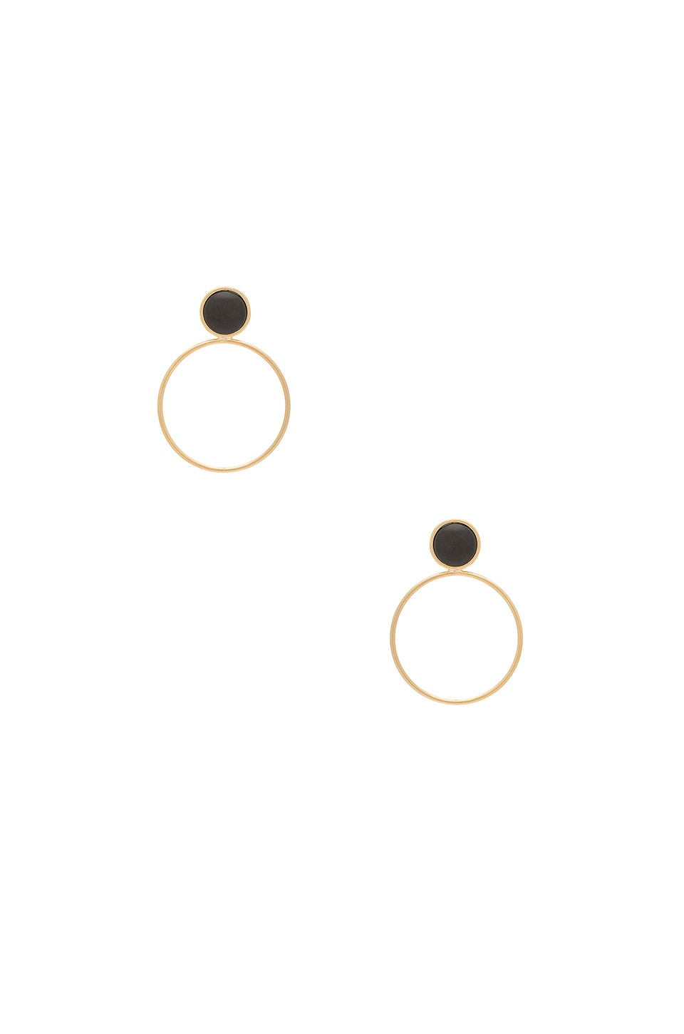 Five and Two Layla Earring in Onyx & Gold