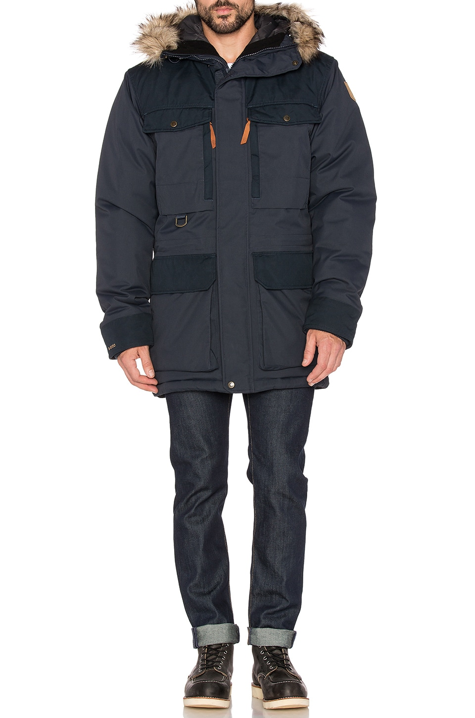 promo code f553a faaf0 Fjallraven Polar Guide Parka with Faux Fur Lining in Dark ...