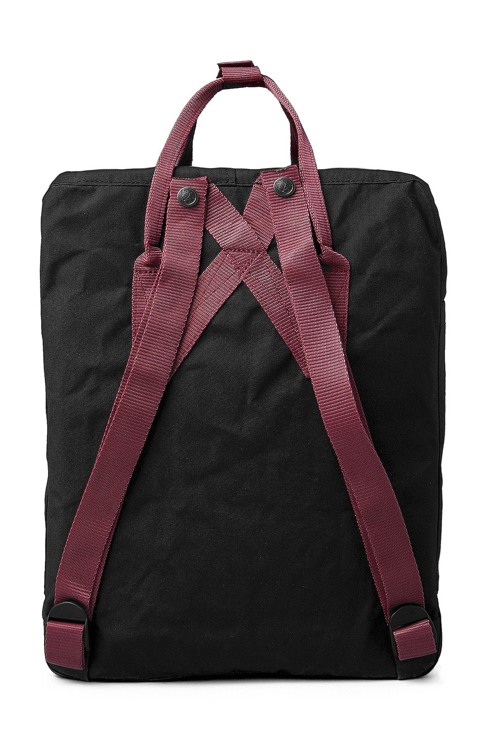 Fjallraven Kanken in Black & Ox Red