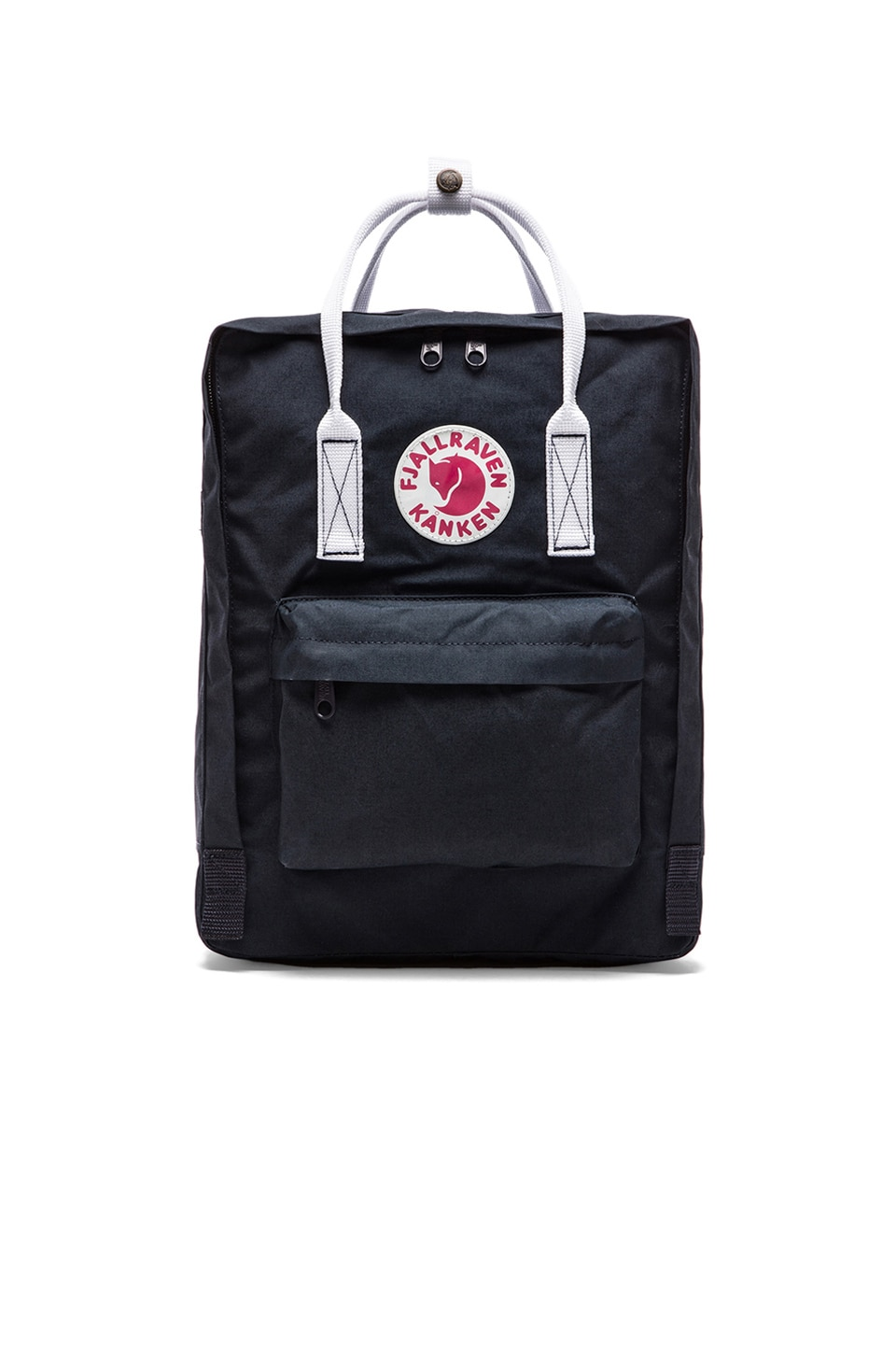 Fjallraven Kanken in Navy & White