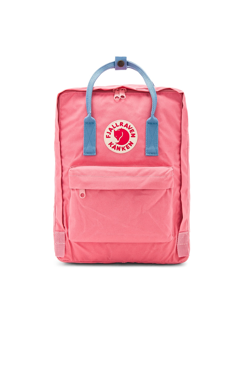Fjallraven Kanken in Pink & Air Blue