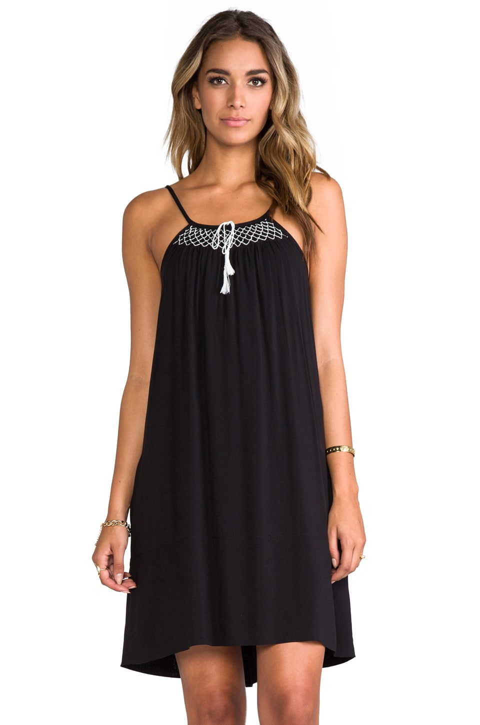 Flannel Australia Flannel Amore Singlet Dress in Black
