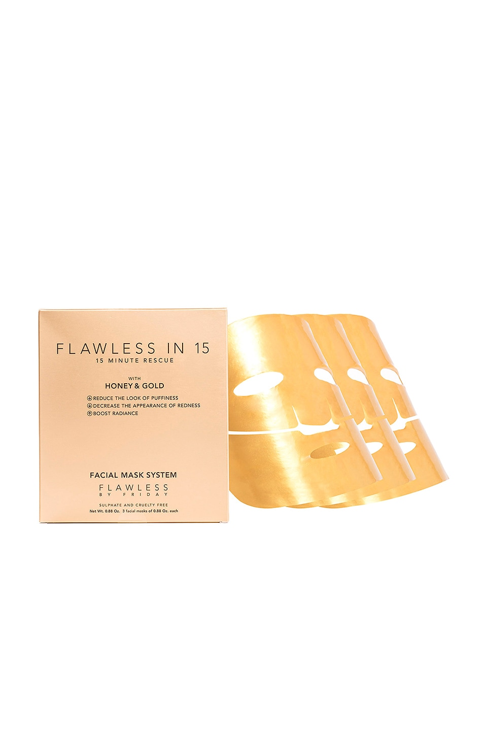 FLAWLESS BY FRIDAY 15 Minute Rescue Facial Mask 3 Pack in Beauty: Na