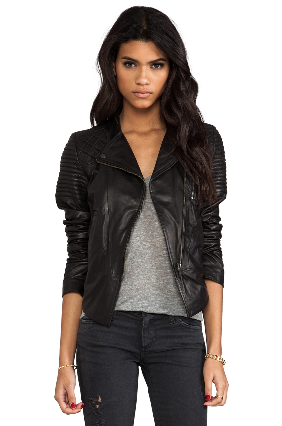 Francis Leon The Avenger Jacket in Black