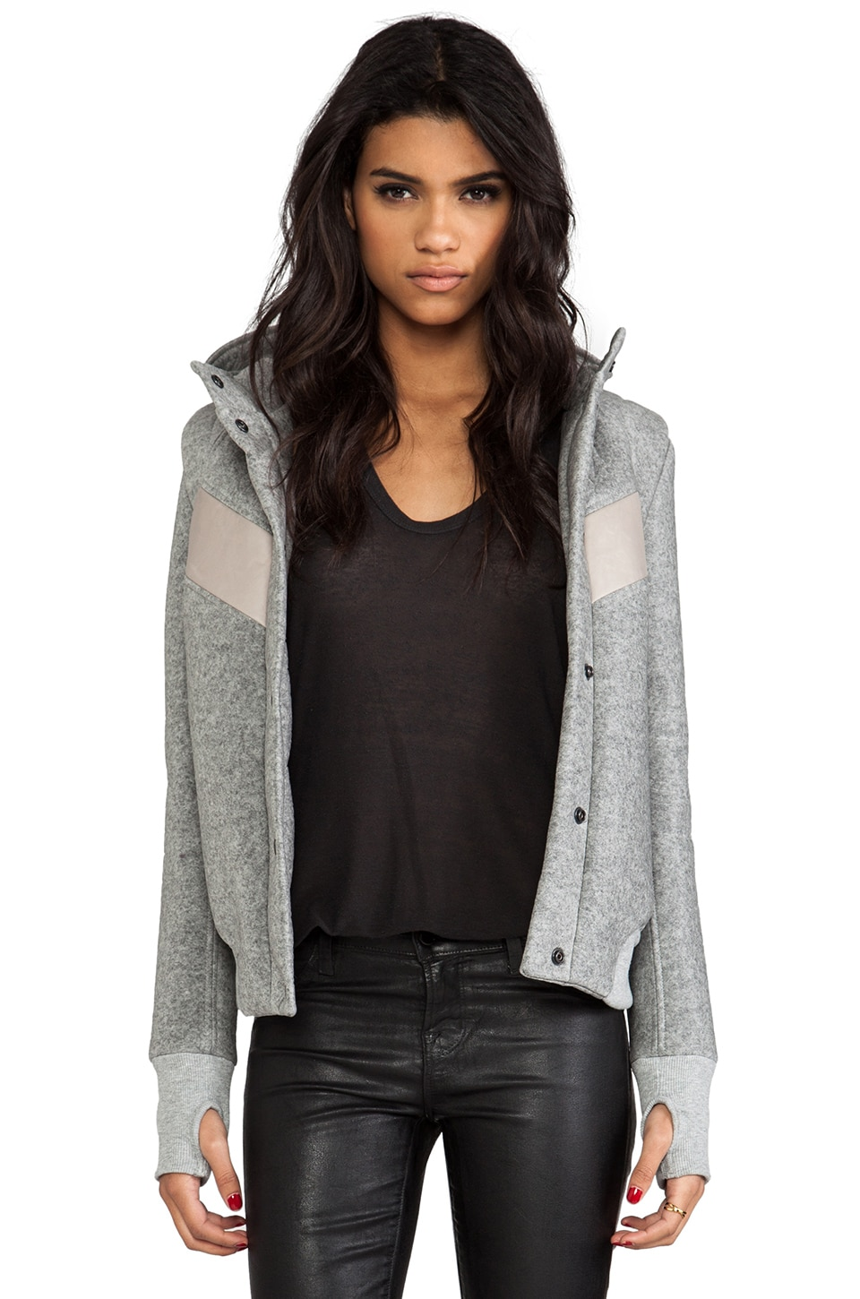 Francis Leon Wind-Warrior Jacket in Grey