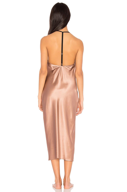 Fleur Du Mal Cowl Neck Bias Slip Dress In Tan Modesens