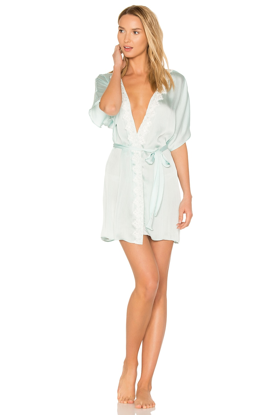 Mira Texture Satin Lace Cover Up by Flora Nikrooz