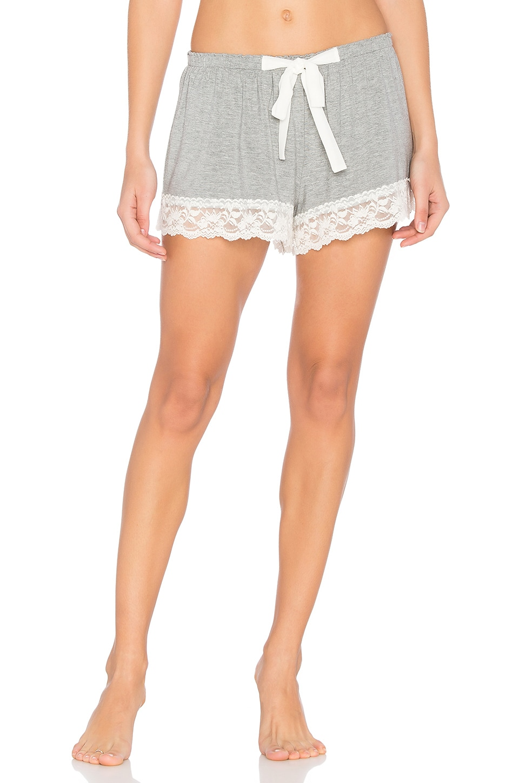 Flora Nikrooz Snuggle Shorts in Heather Grey