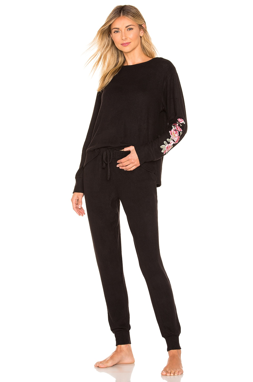 Flora Nikrooz Melrose PJ Set in Black