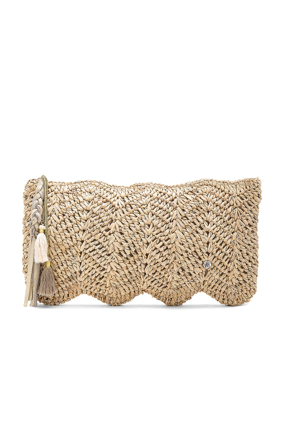 florabella Avon Clutch in Almond Silver