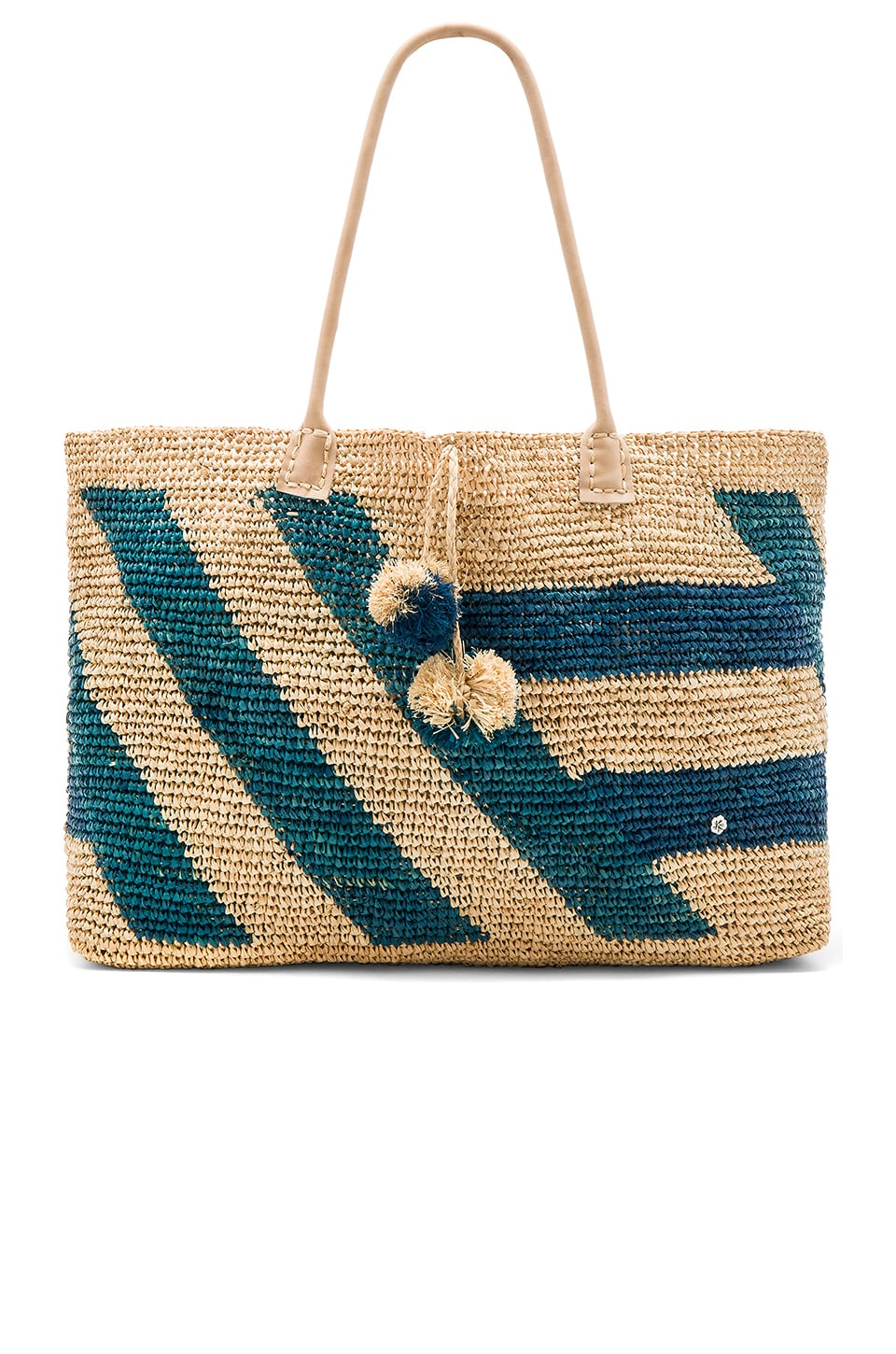florabella Sebago Tote in Natural & Electric Multi