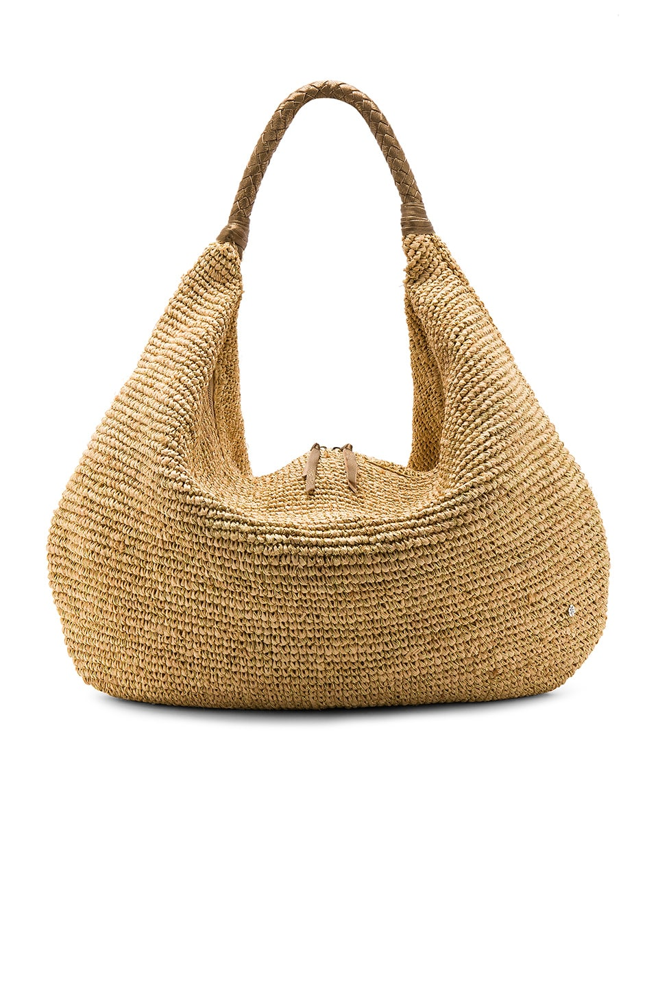 florabella Villahermosa Lux Tote in Natural & Gold