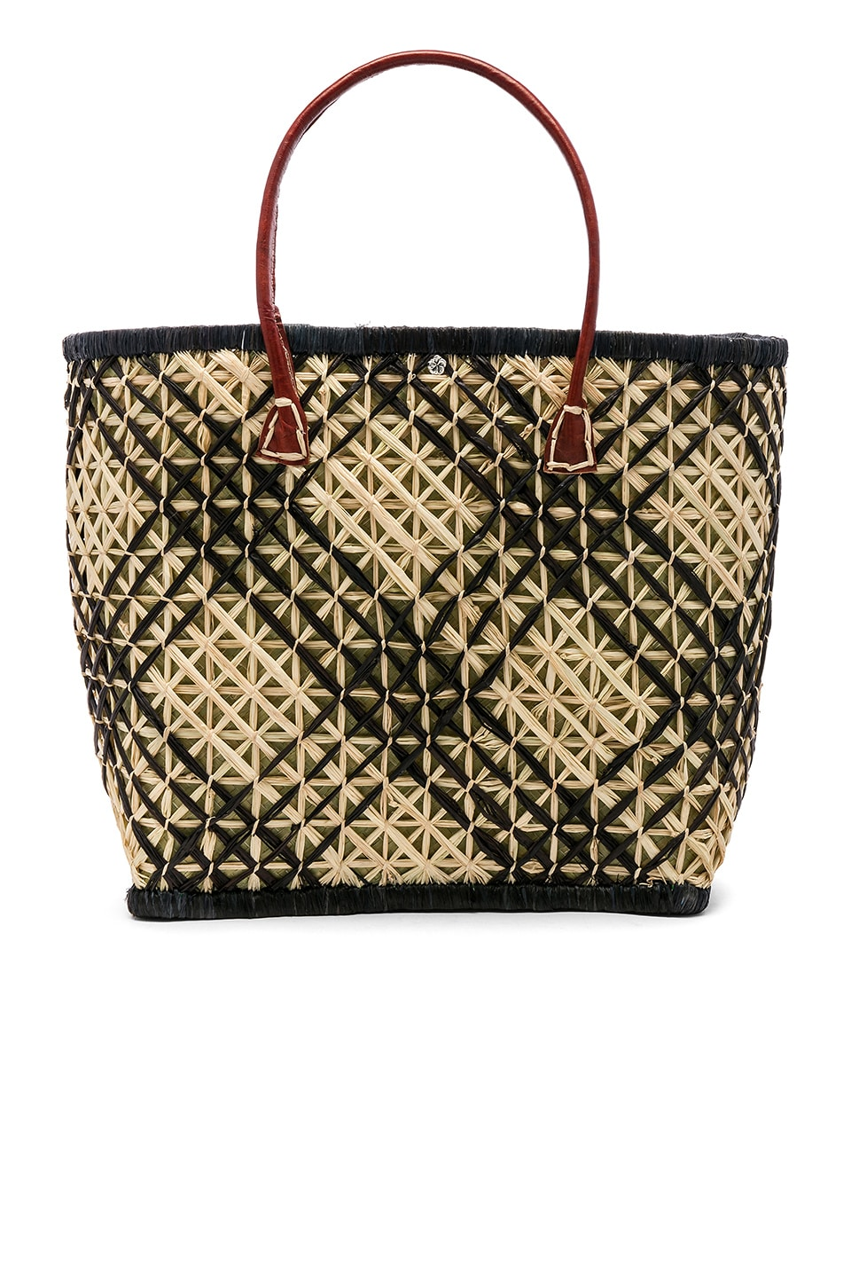 florabella Clearwater Tote in Black & Natural