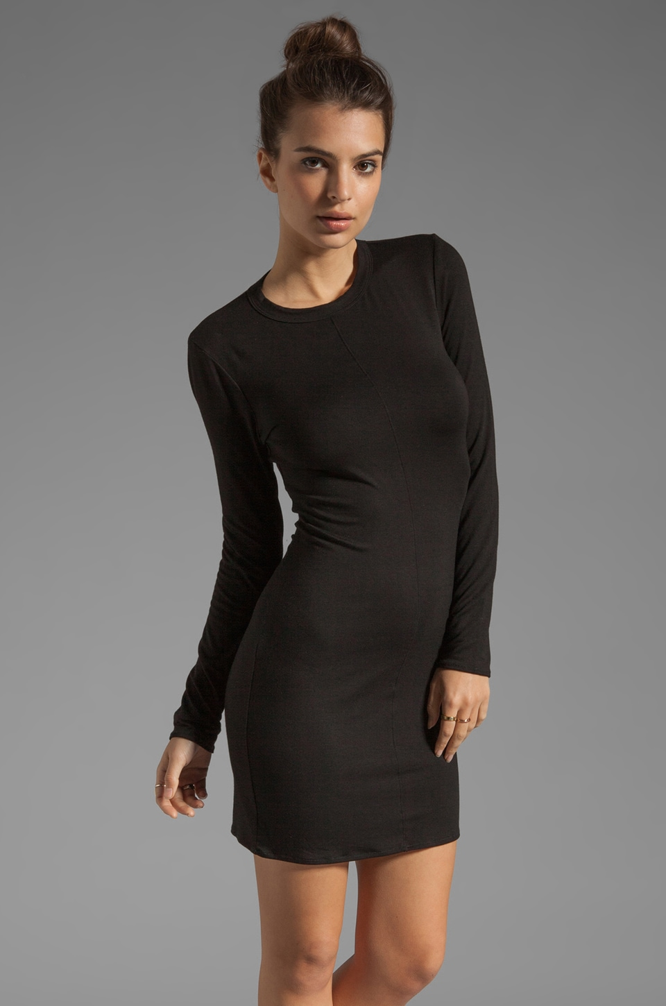 fLuXuS Long Sleeve Joey Dress in Black