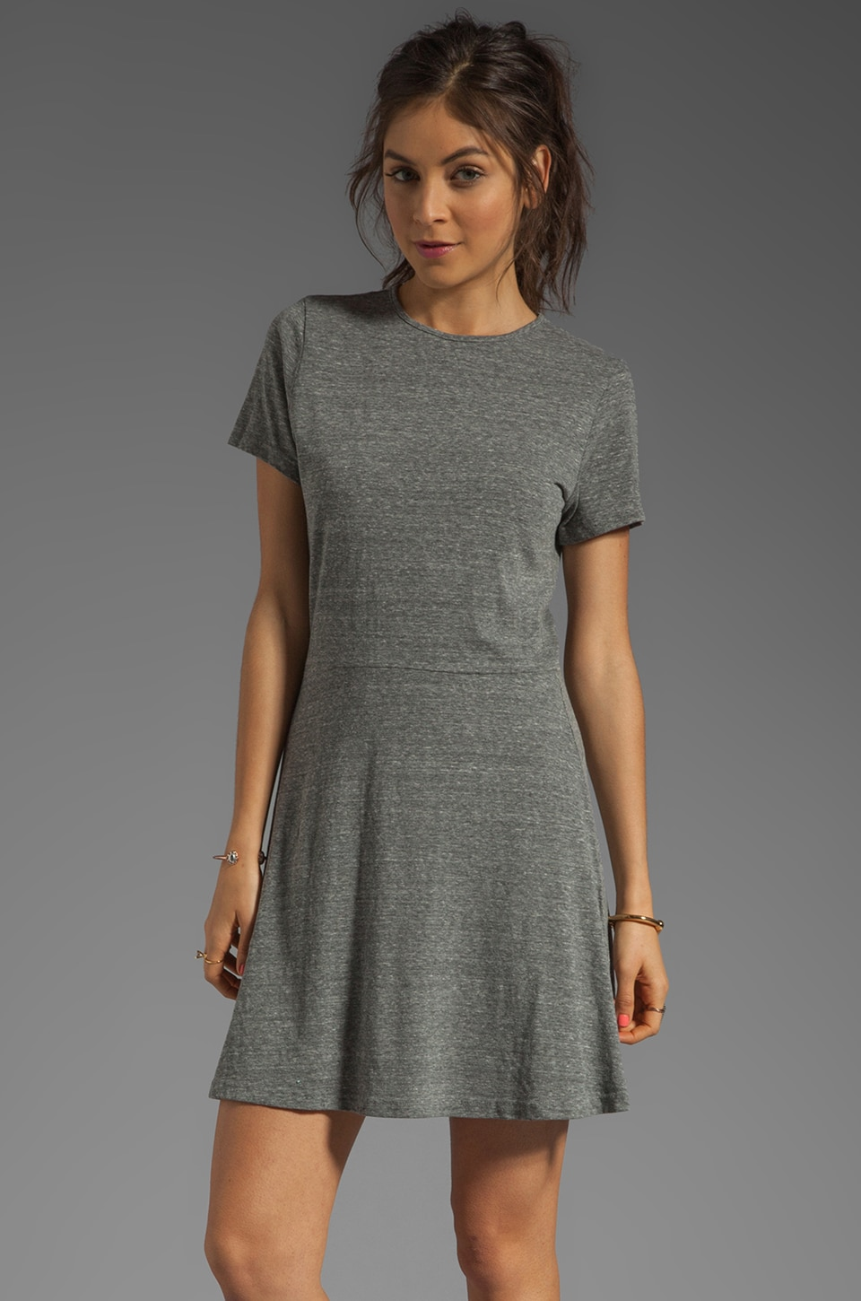 fLuXuS Triblend Sandra Dress in Heather Grey