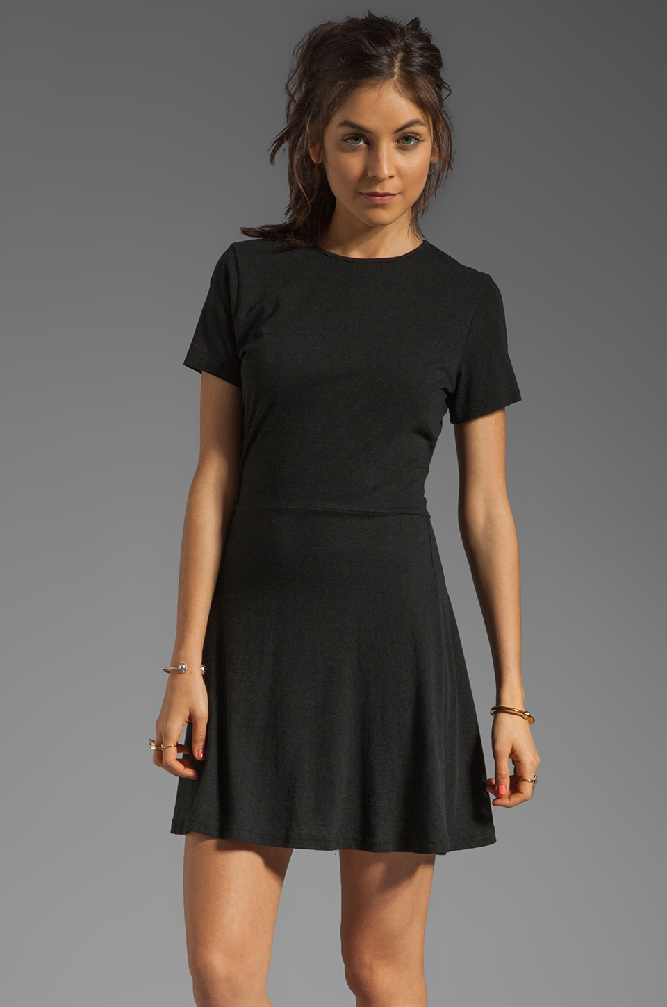 fLuXuS Triblend Sandra Dress in Black