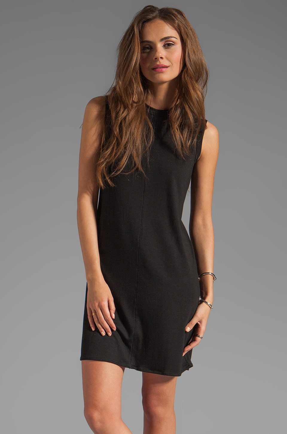 fLuXuS Stewart Tank Dress in Black