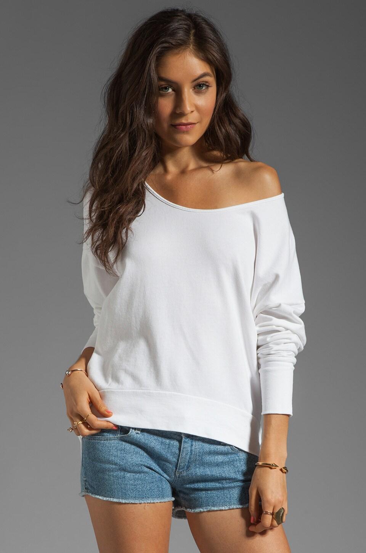 fLuXuS Baby Terry Parker Sweatshirt in White