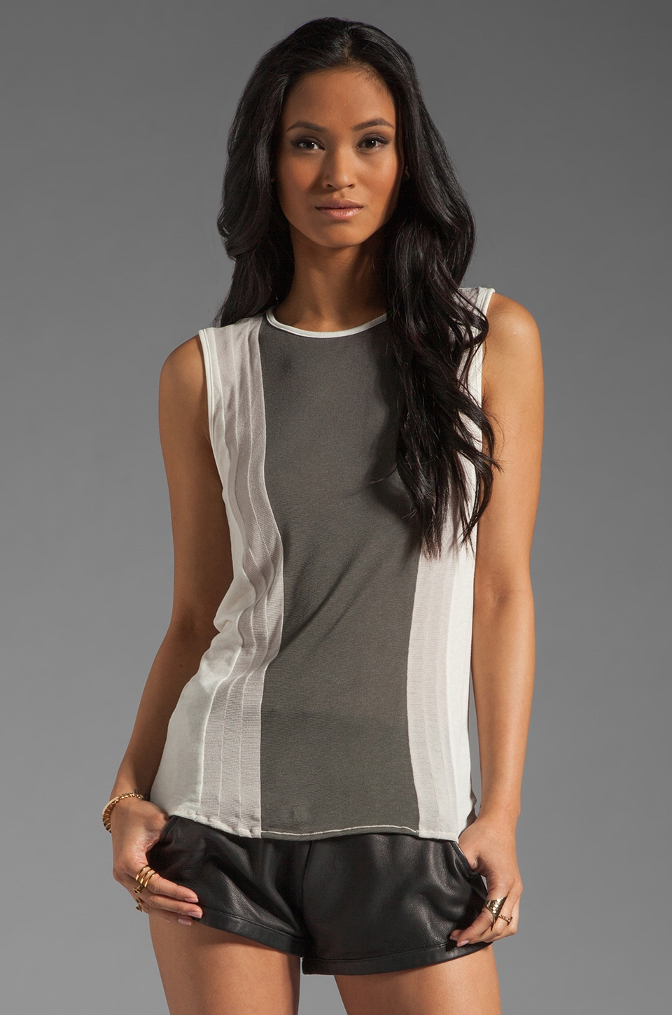 fLuXuS Sleeveless Elza Top in Quartz Multi