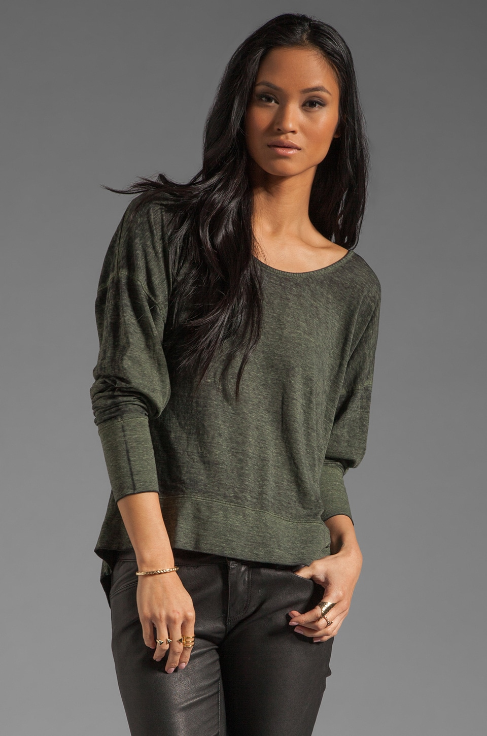 fLuXuS Parker Top in Army