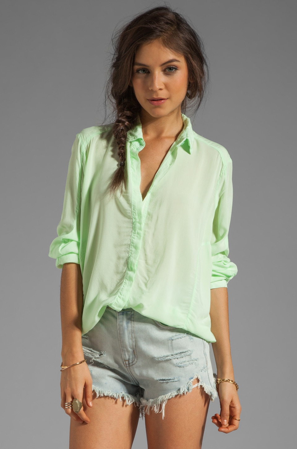 fLuXuS Trona Shirt in Mint