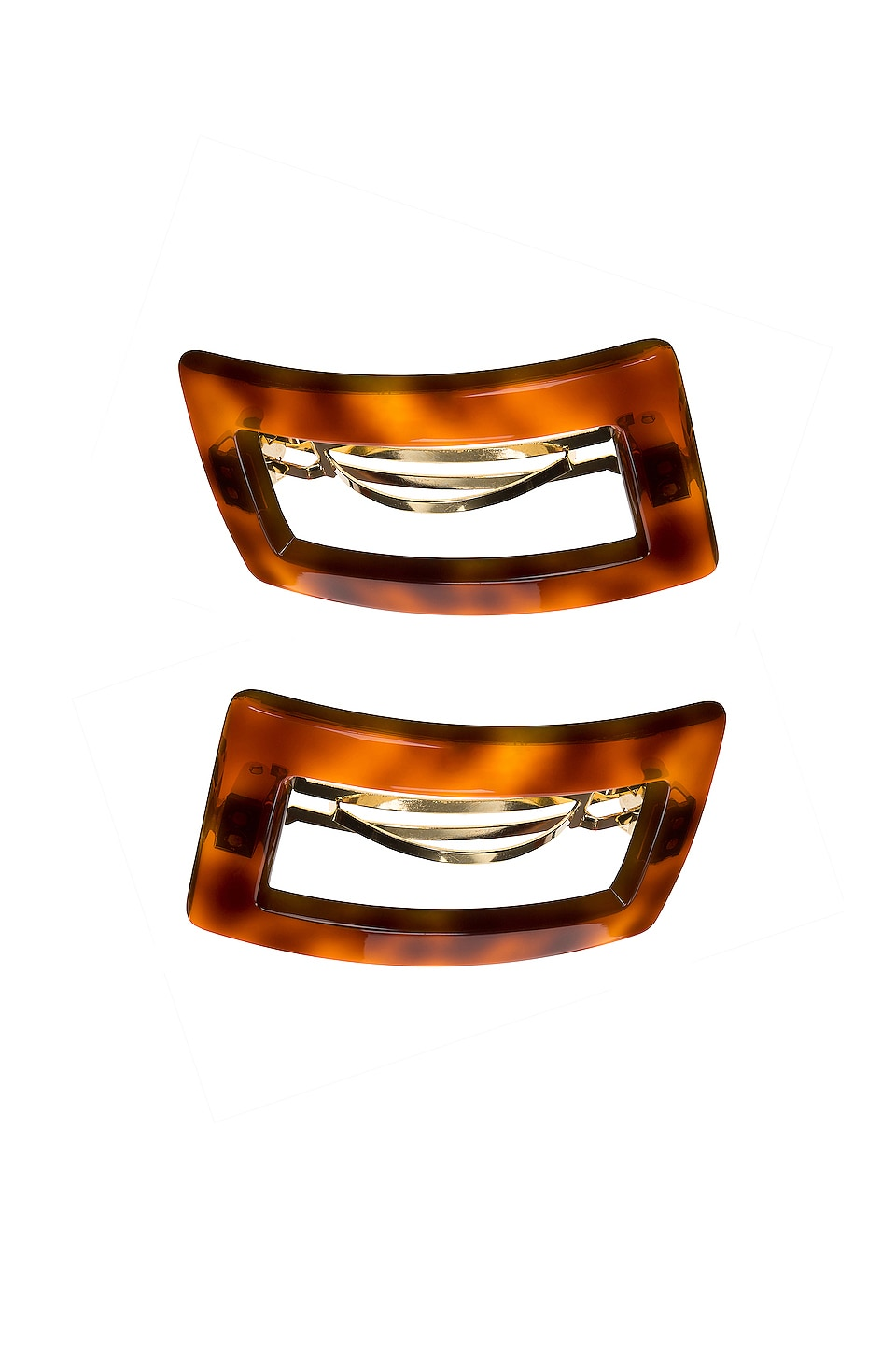 France Luxe Camille Cutout Barrette in Tortoise
