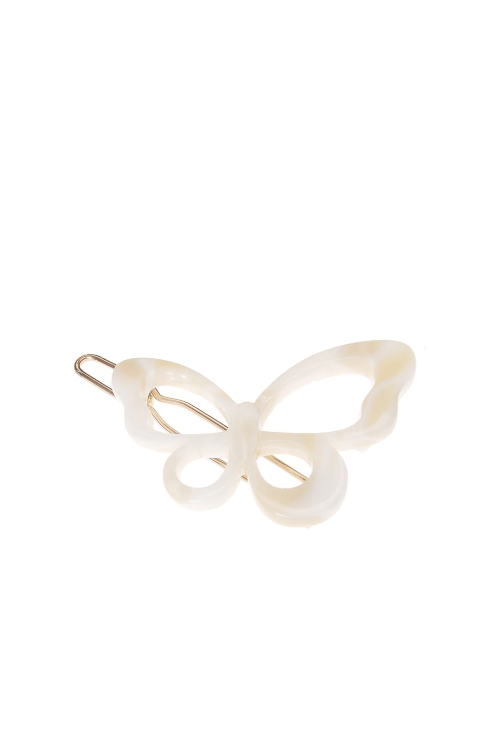 France Luxe Small Cutout Butterfly Tige Boule Barrette in Alba