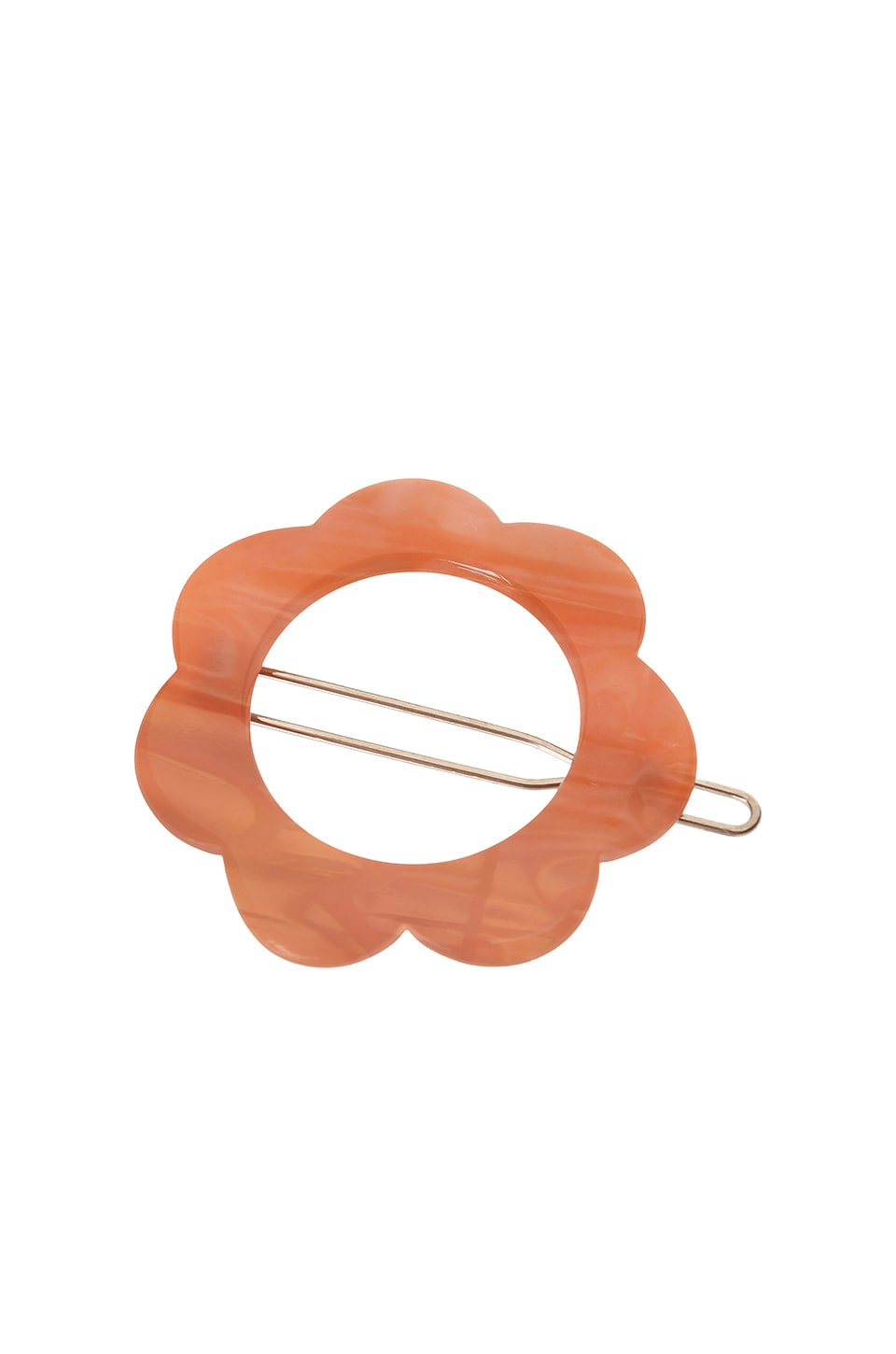 France Luxe Posh Flower Tige Boule Barrette in Nacro Coral