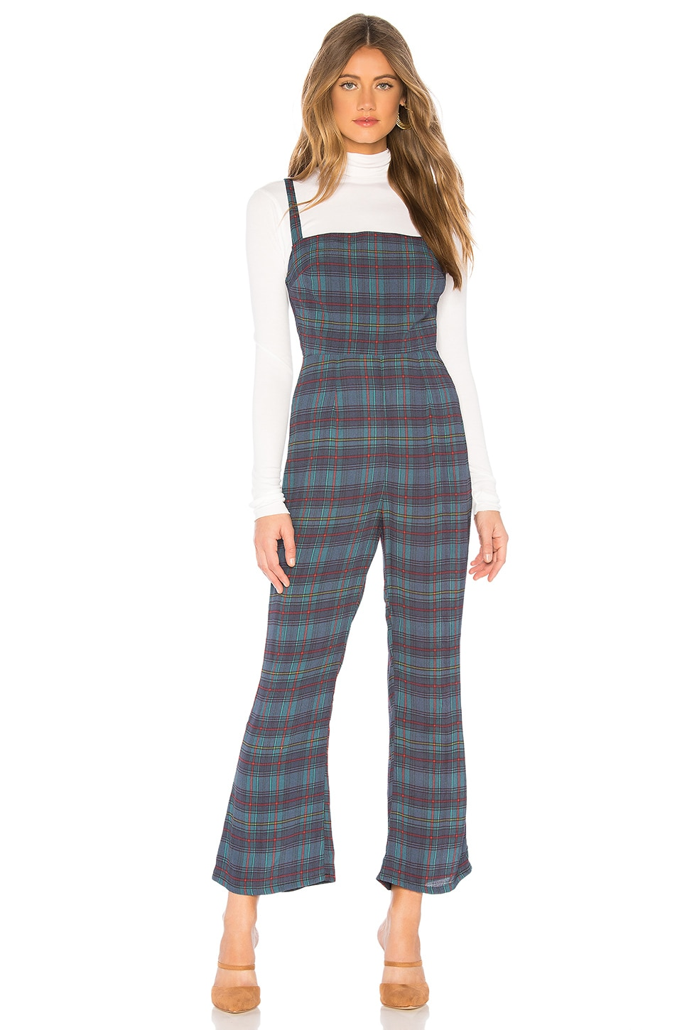 FLYNN SKYE X REVOLVE Lexi Jumpsuit in Blue Plaid