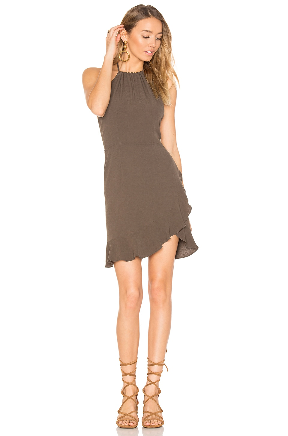 FLYNN SKYE Monica Mini Dress in Forest