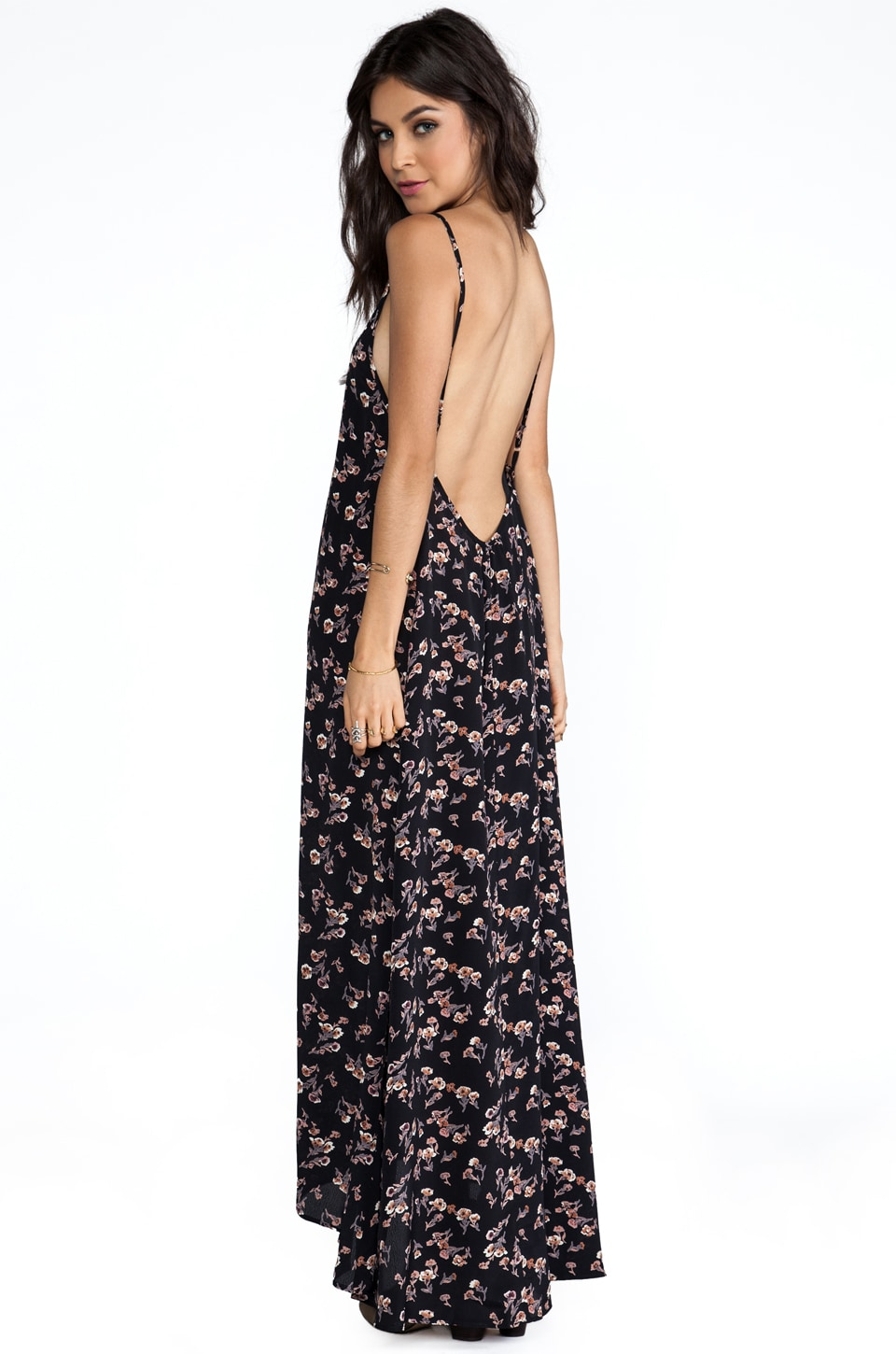 FLYNN SKYE REVOLVE Exclusive Scoop Back Maxi Dress in Farm Flower