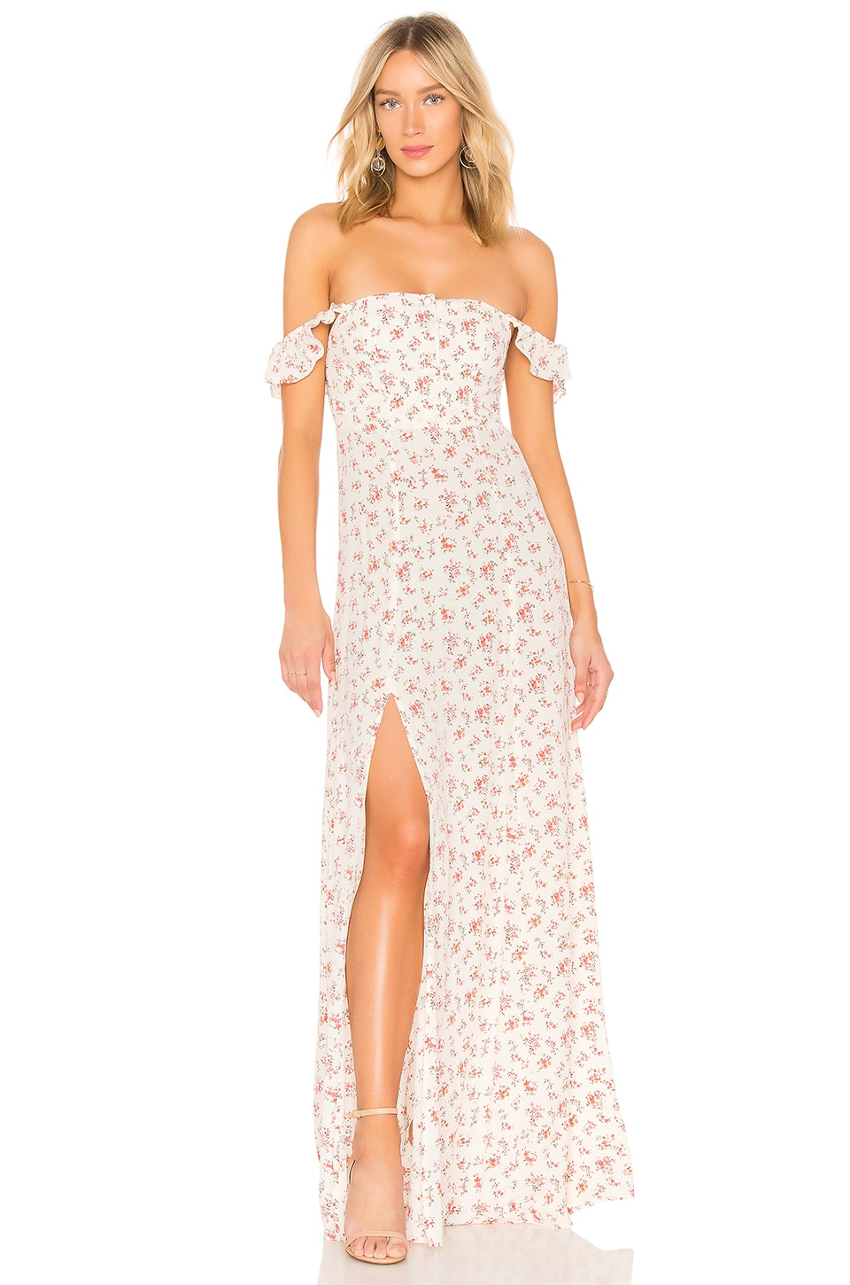 FLYNN SKYE Bardot Maxi Dress in Countryside Blooms