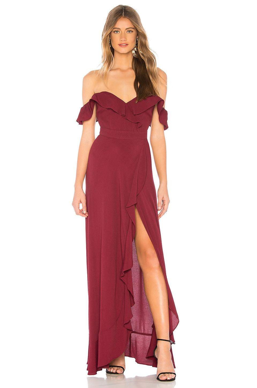 FLYNN SKYE Monica Maxi Dress in Very Berry
