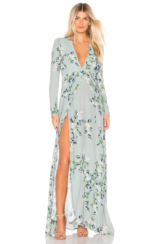 FLYNN SKYE Kate Maxi Dress in Brush Stroke