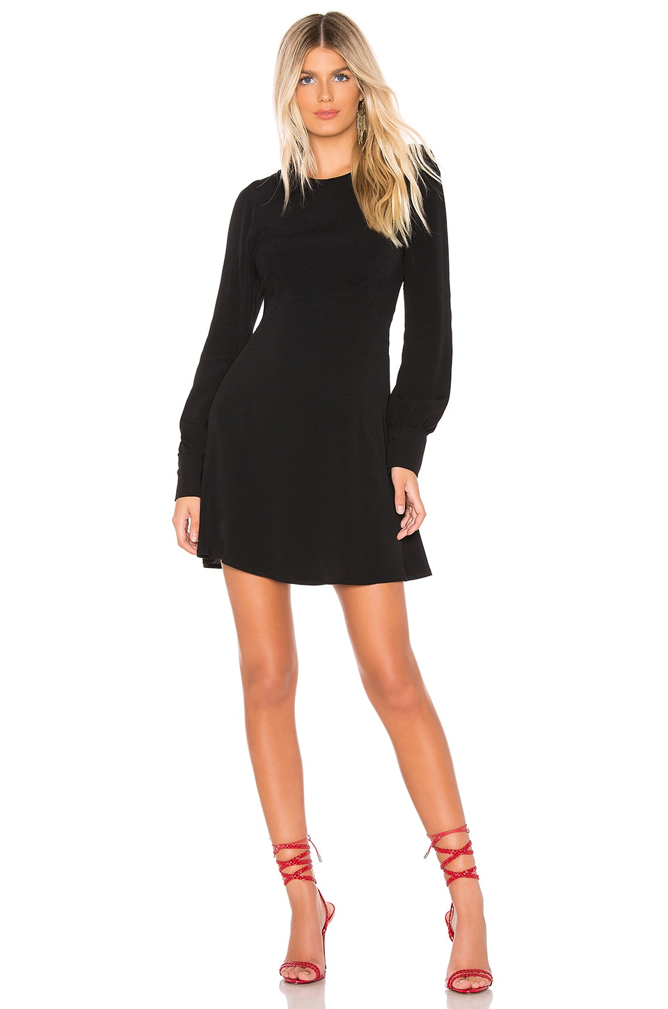 FLYNN SKYE Lydia Mini Dress in Black