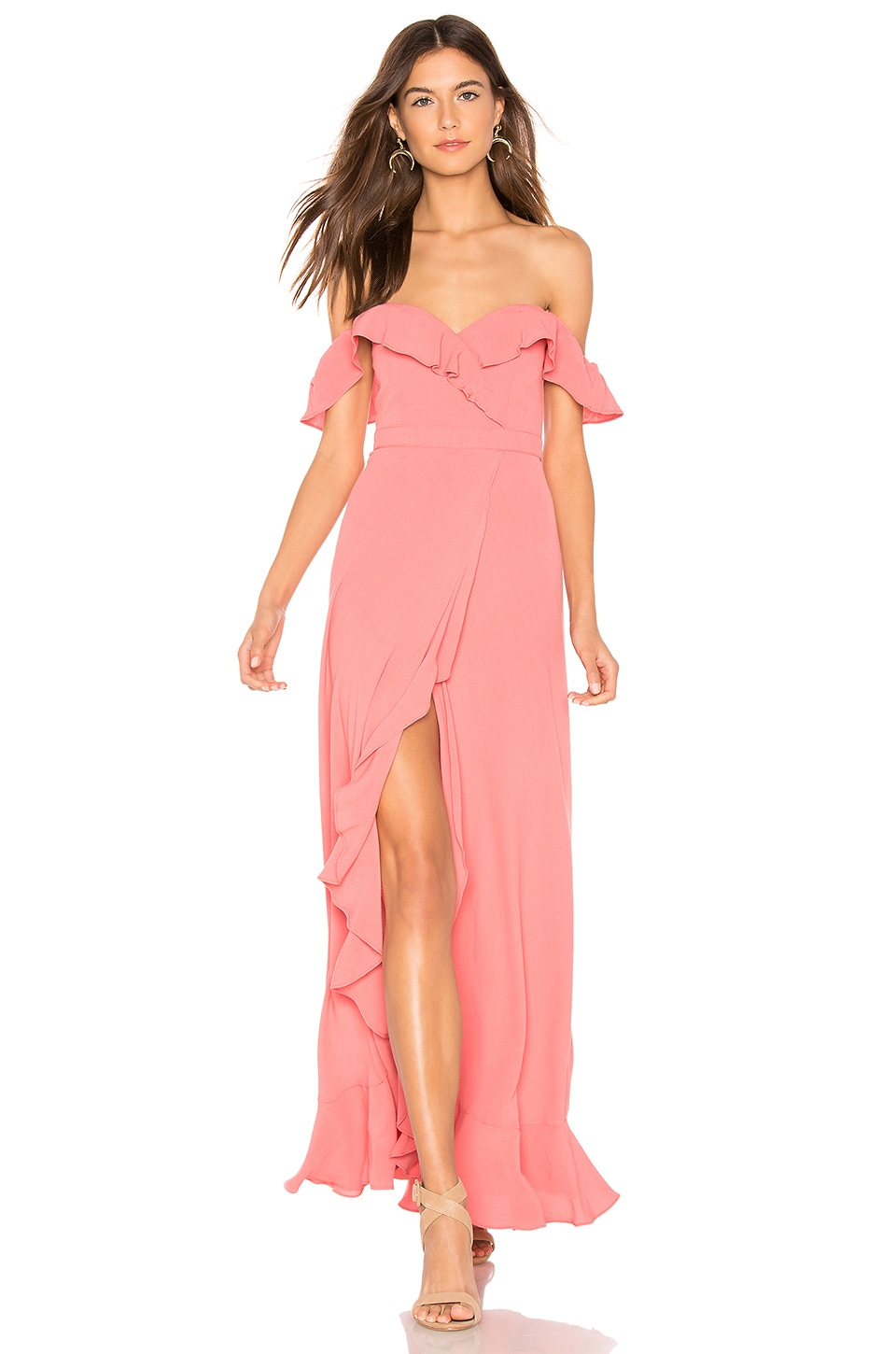 FLYNN SKYE Monica Maxi Dress in Watermelon