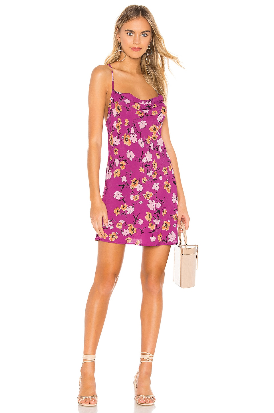 FLYNN SKYE Lynn Slip Dress in Berry Kiss