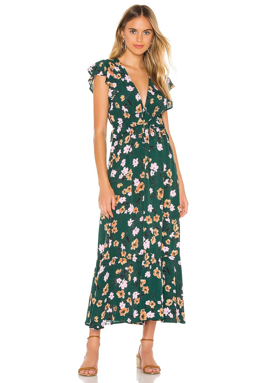 FLYNN SKYE Ophilia Midi Dress in Emerald City