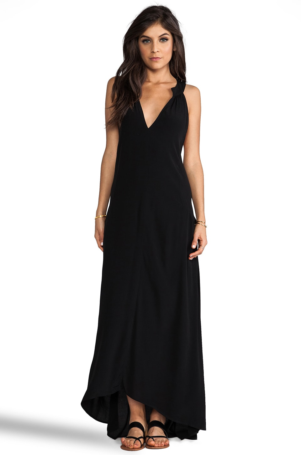 FLYNN SKYE Amber Maxi Dress in Black Noir