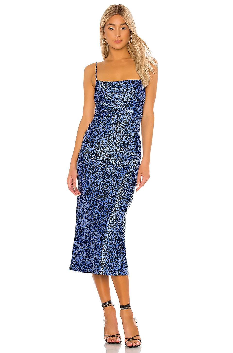 FLYNN SKYE Jackie Slip Dress in Blue