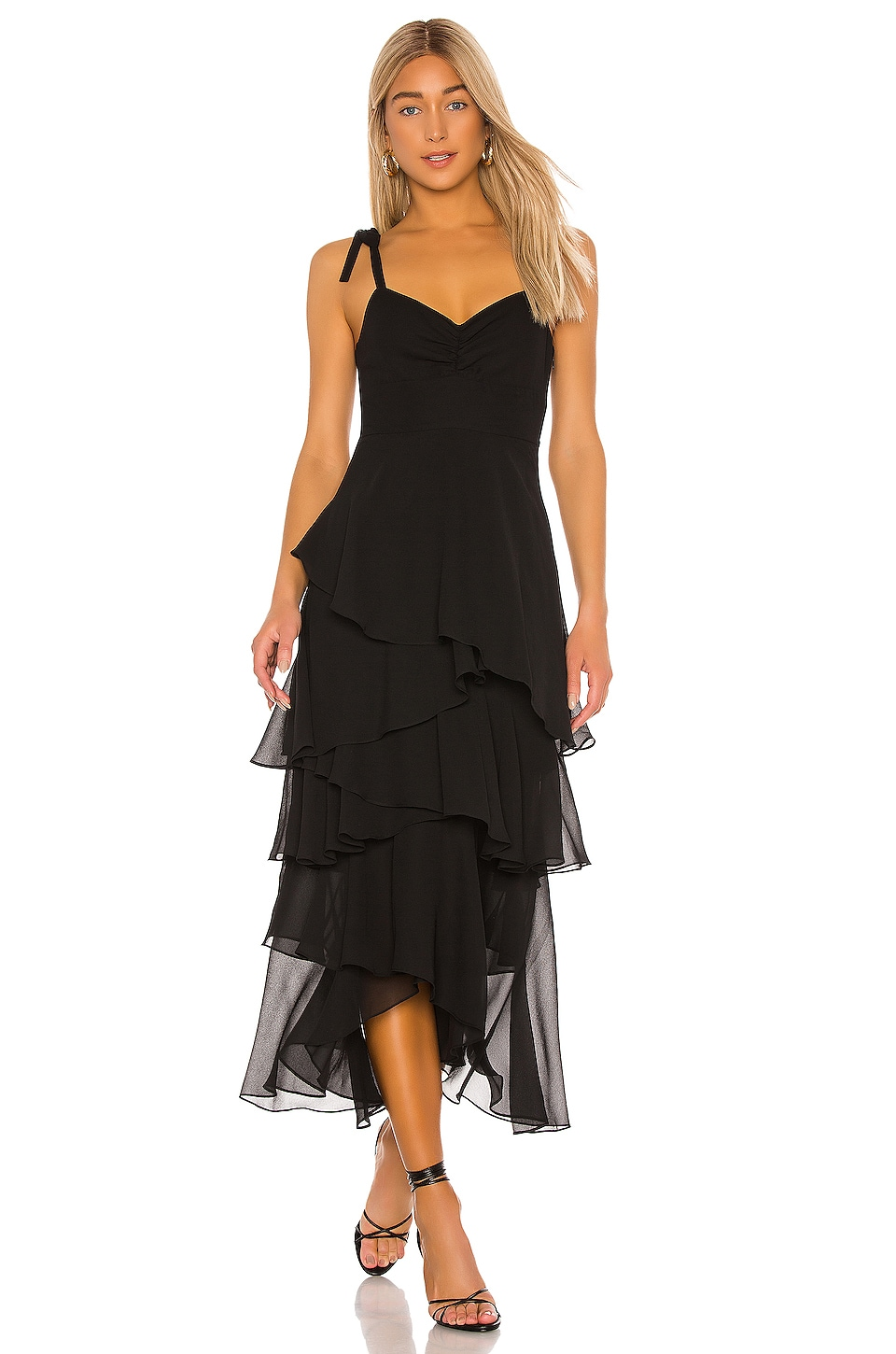 FLYNN SKYE Leona Midi Dress in Black