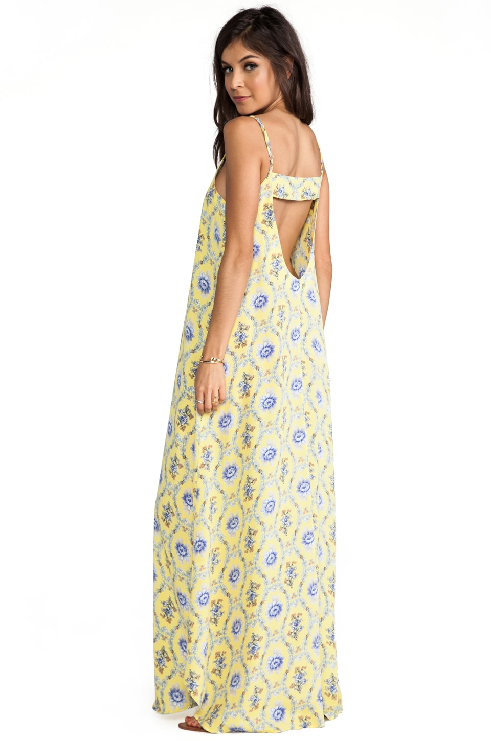 FLYNN SKYE Backstrap Maxi in Yellow Delight