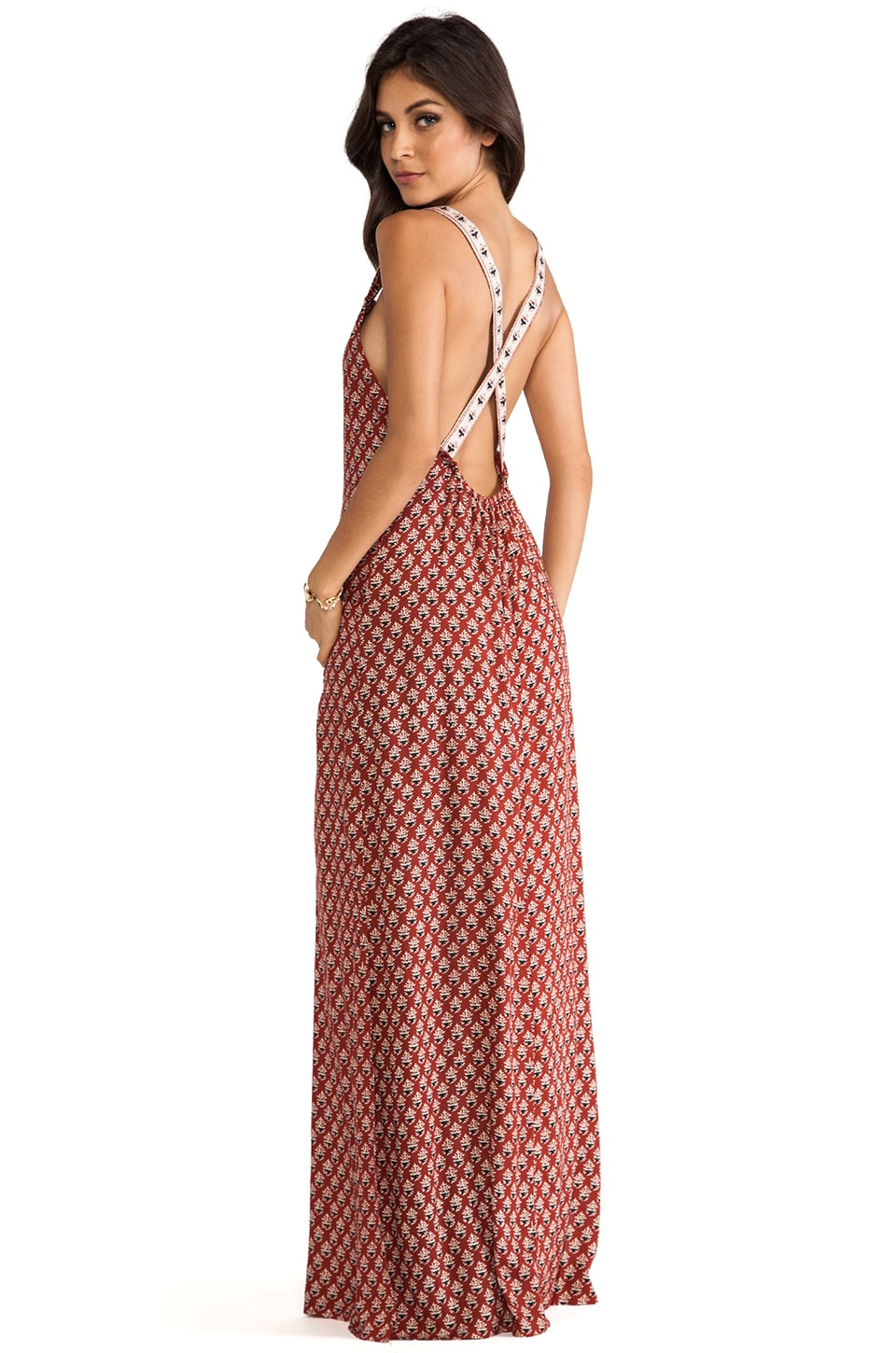 FLYNN SKYE Apron Maxi Dress in Burnt Boho