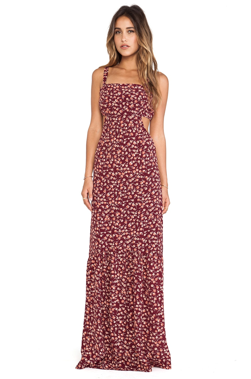 FLYNN SKYE Farrah Maxi Dress in Rusty Dawn