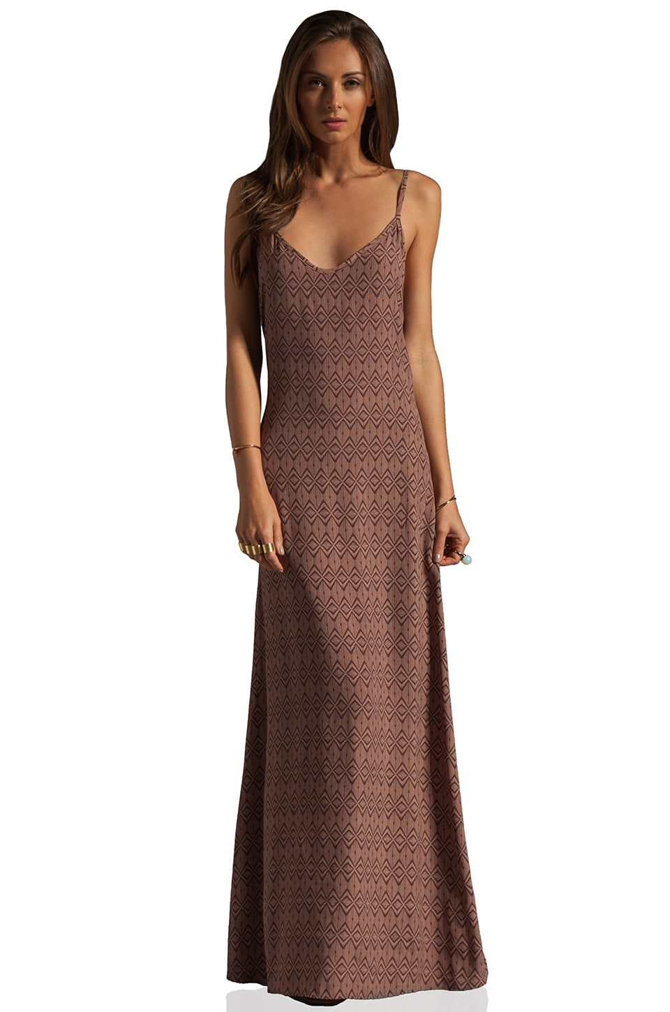 FLYNN SKYE Criss Cross Maxi Dress in Dune Tribal