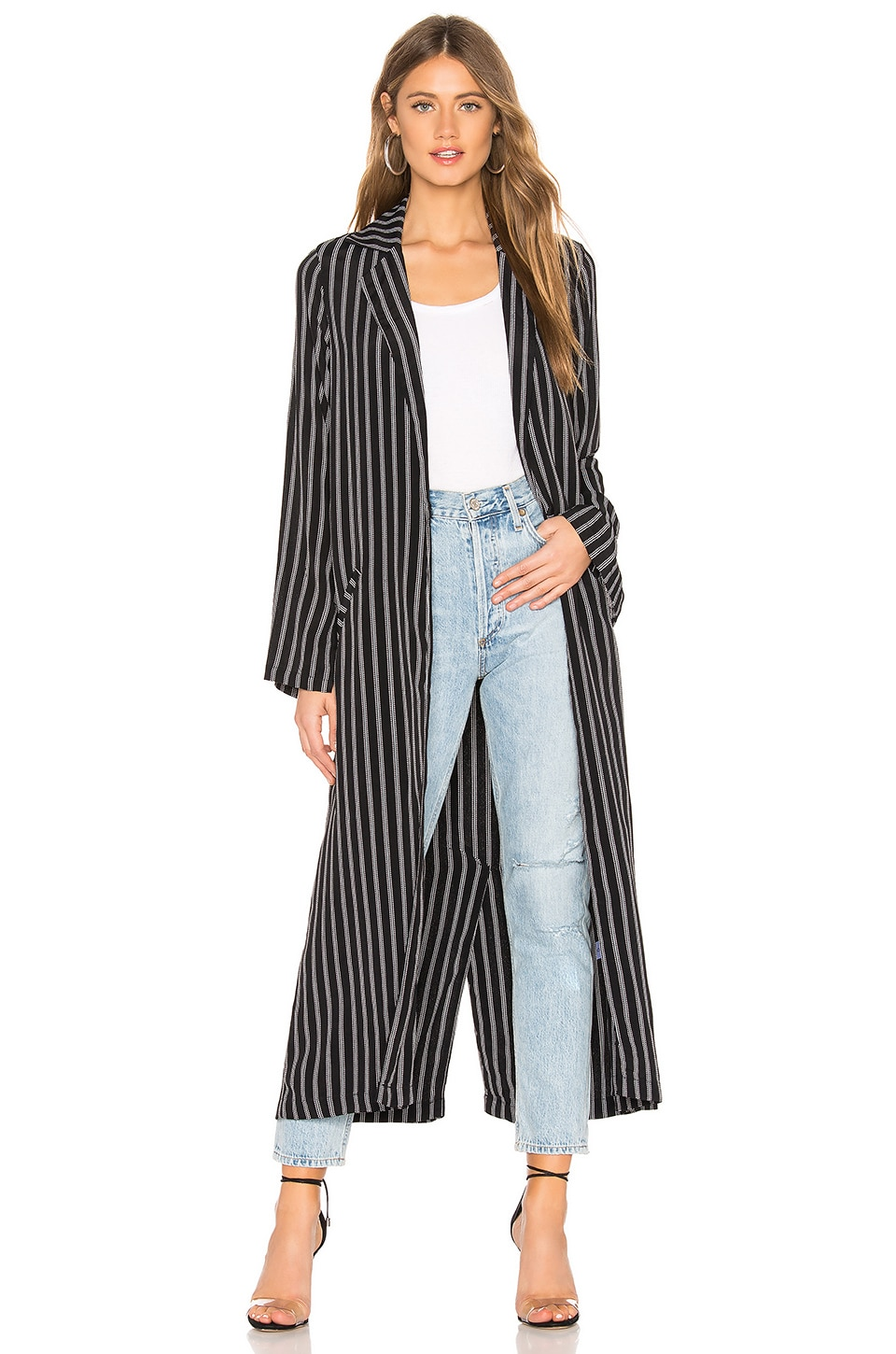 FLYNN SKYE Athena Duster in Black Stripe
