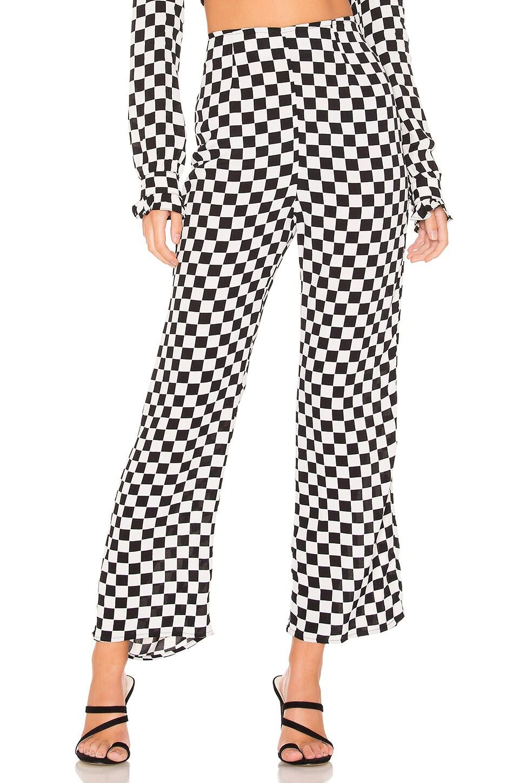 FLYNN SKYE Parker Pant in Black & White Checkerboard