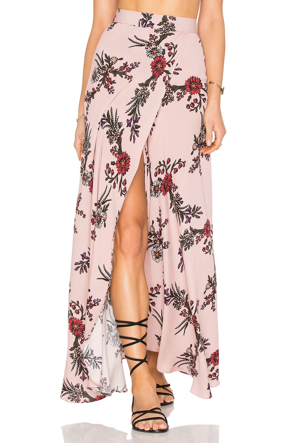 FLYNN SKYE Wrap It Skirt in Sweet Desert