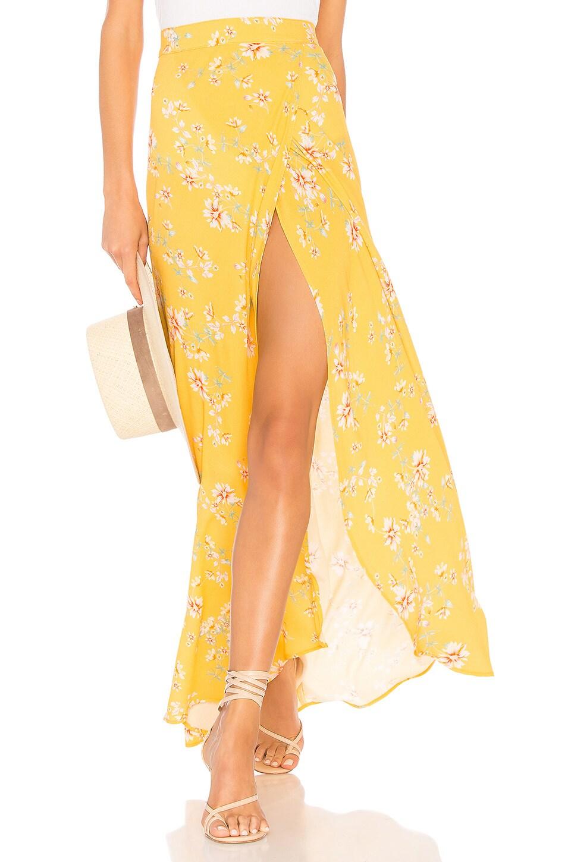 FLYNN SKYE Wrap It Up Skirt in Touch Of Honey