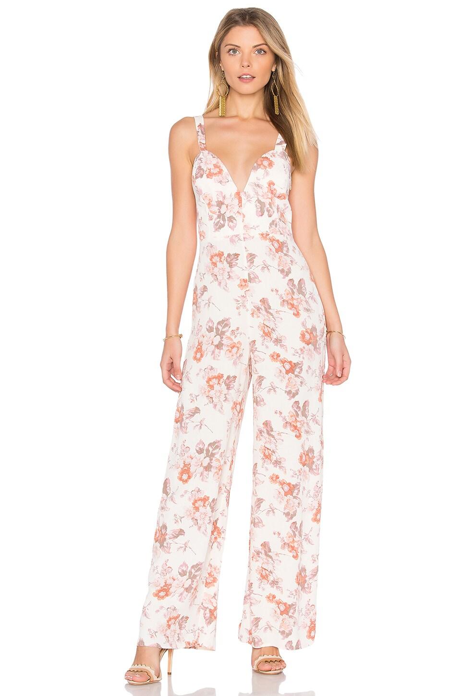 FLYNN SKYE Ariel Jumpsuit in Cream Blossom